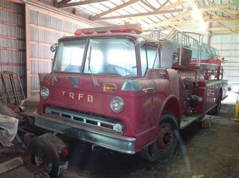 ford fire truck barn find
