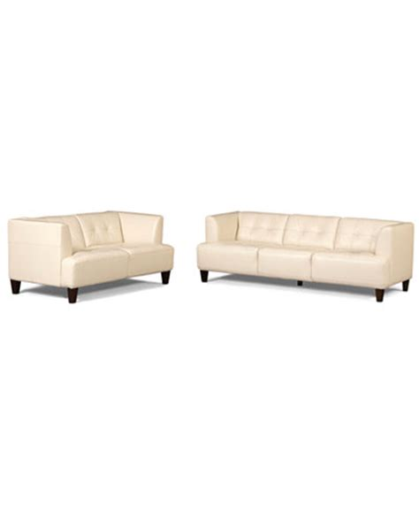 alessia leather sofa slate alessia leather sofas 2 set sofa and loveseat