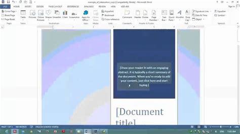 7 how to make cover page in ms word 2013 for design