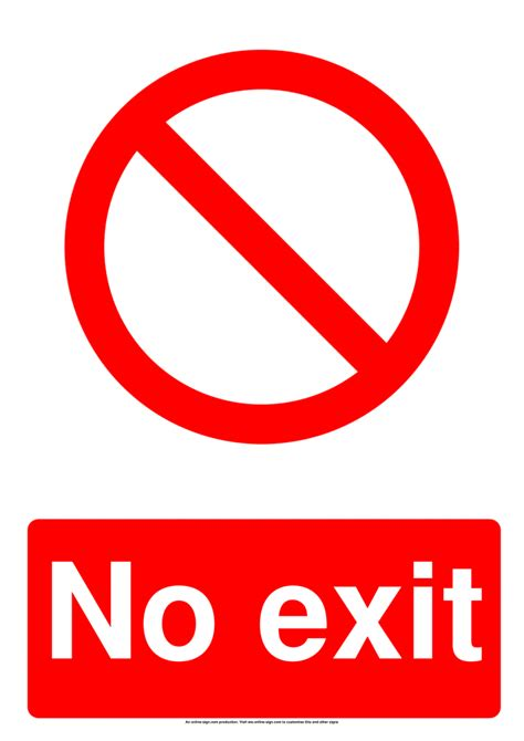 exit signs poster template