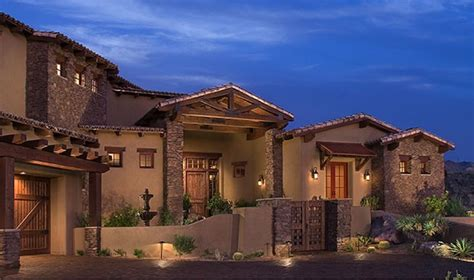 Spanish Colonial Ranch Home   Series Southwest Ranch