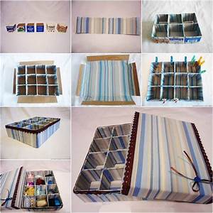 How to DIY Cardboard Storage Box with Dividers
