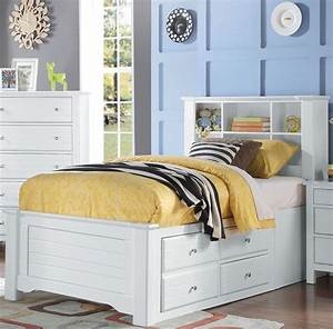 Acme, Mallowsea, White, Twin, Bookcase, Storage, Bed, -, Mallowsea, Collection, 8, Reviews