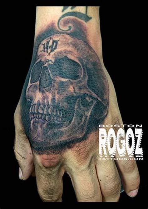 hd hand skull tattoo  boston rogoz tattoos