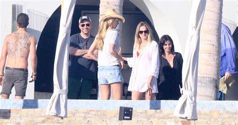 Jennifer Aniston Justin Theroux Courteney Cox In Los