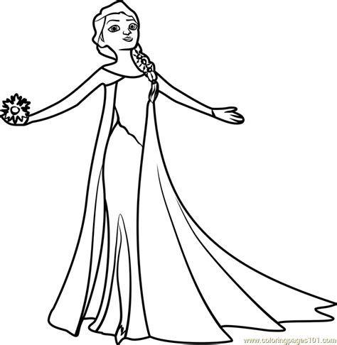 beautiful elsa coloring page  frozen coloring pages