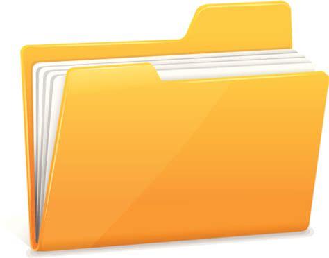porte document pour bureau yellow file folder with documents clipart vectoriel