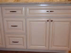 Antique White Glazed Maple Cabinets