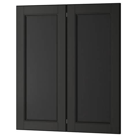 black cabinet with doors black kitchen cabinets with glass doors quicua com