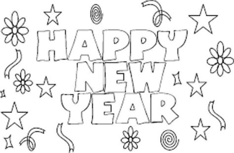 Kleurplaat Happy New Year by Happy New Year Coloring Page Coloring Page Book For