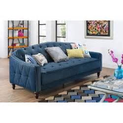 my sofa to go 9 by novogratz vintage tufted sofa sleeper ii colors walmart