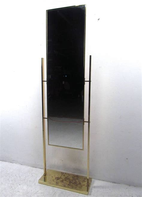floor mirror unique unique vintage brass finish dressing mirror for sale at 1stdibs