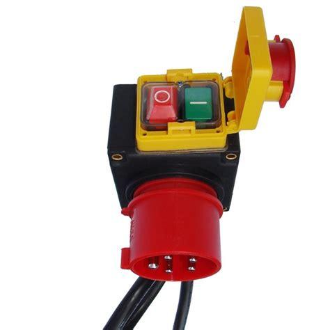 16a stecker mit schalter drehstrom schalter steckdoseneinheit cee 400v 16a stecker schutzschaltung notaus ebay