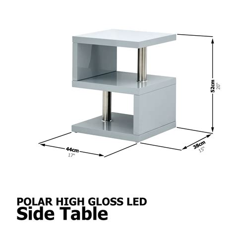 Browse a wide selection of coffee & end tables with 100% price match guarantee! POLAR HIGH GLOSS LED TV STAND UNIT LAMP TABLE COFFEE TABLE GREY W/ LED LIGHT | eBay
