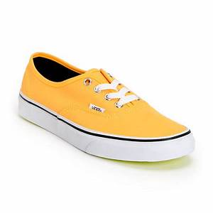 Vans Authentic Neon Orange & Yellow Shoe at Zumiez PDP