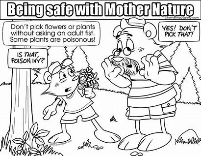 Coloring Plants Safety Poisonous Pages Nature Colouring