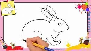 Lapin Facile A Dessiner : dessin lapin 2 comment dessiner un lapin facilement ~ Carolinahurricanesstore.com Idées de Décoration