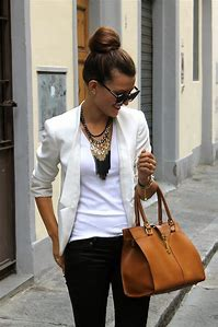 Black and White Blazer Outfits for Women