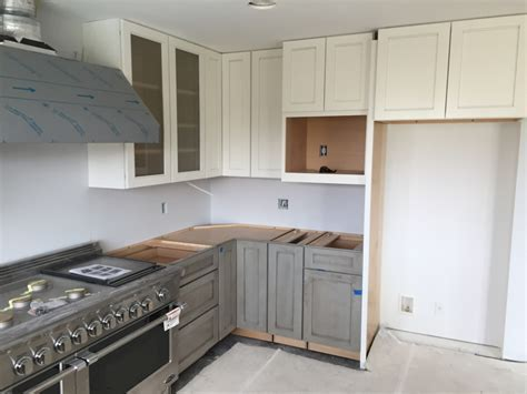 Gray Lower Cabinets with White Uppers   Tacoma, WA