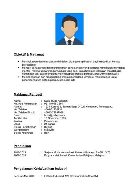 contoh resume format  resume format resume