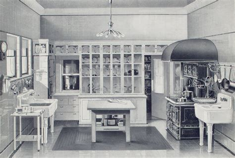 interior designs kitchen historic kitchens from open hearths to open plan 1911