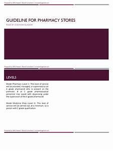 Guideline For Model Pharmacy In Bangladesh  Level 2