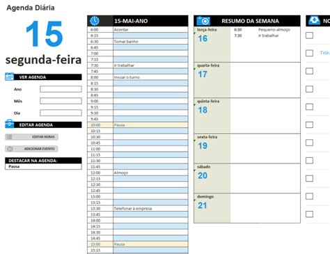 templates excel planeamento de tarefas hor 225 rios office