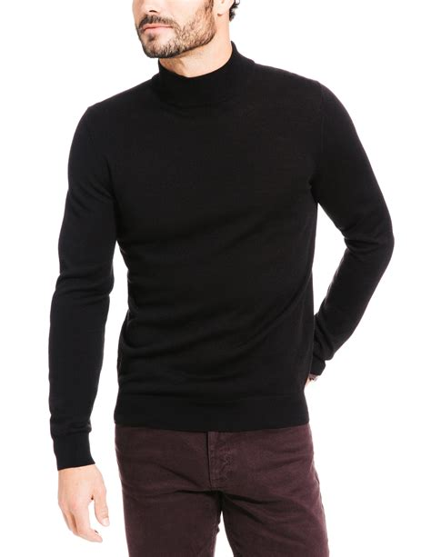 pull homme col montant pull col montant uni brice