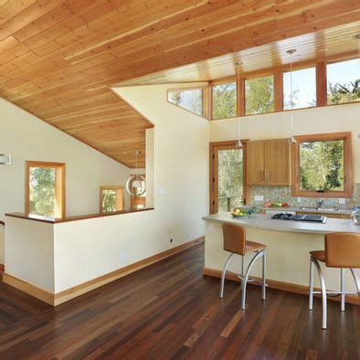 exle of knotty pine ceiling adjacent drywall and