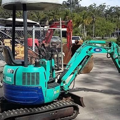 ihi jx mini excavator  ton   gp buckets   mud bucket spare track  sale  australia