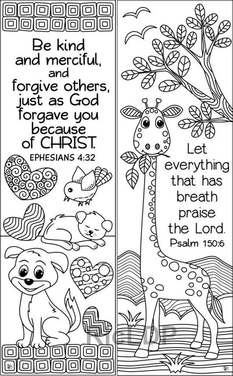 set   animals insects bible coloring bookmarks cute etsy bible coloring bible verse