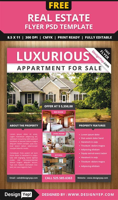 real estate flyer psd template designyep