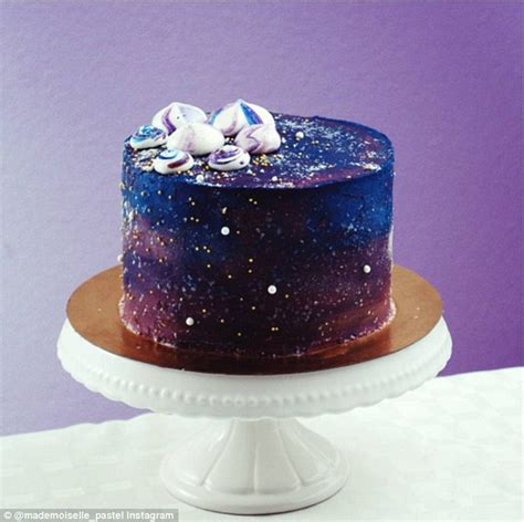 purple bags mesmerising galaxy cakes are the dessert trend to