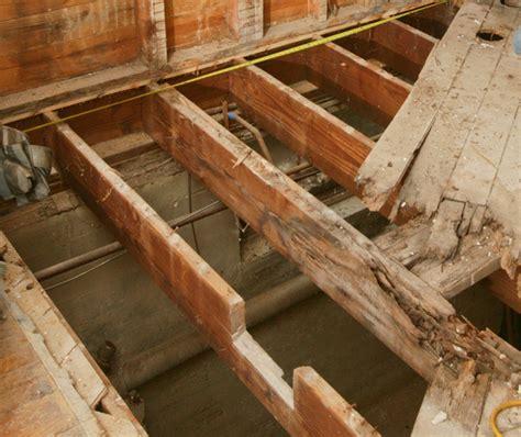 repair  butchered floor joist fine homebuilding