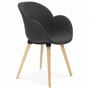 Chaise En Tissu Gris : chaise design style scandinave lena en tissu gris fonc ~ Teatrodelosmanantiales.com Idées de Décoration