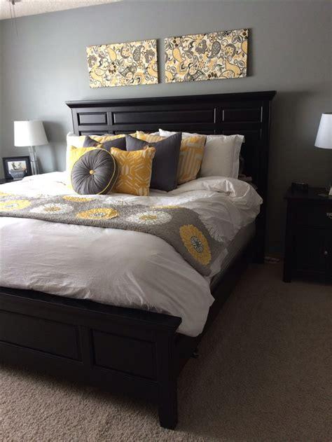 ideas  gray yellow bedrooms  pinterest