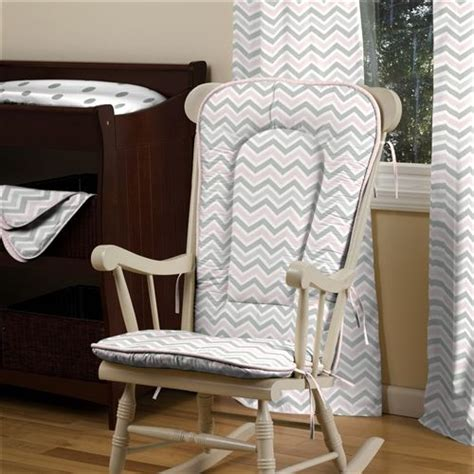 pink and gray rocking chair cushions pink and gray chevron rocking chair pad