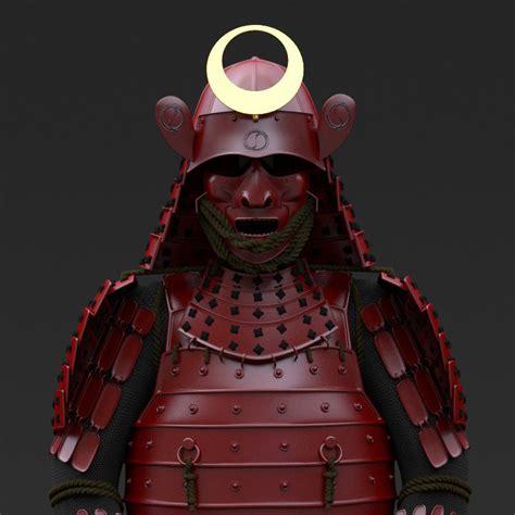 ceramic wood tiles samurai armor by yojigraphics 3docean