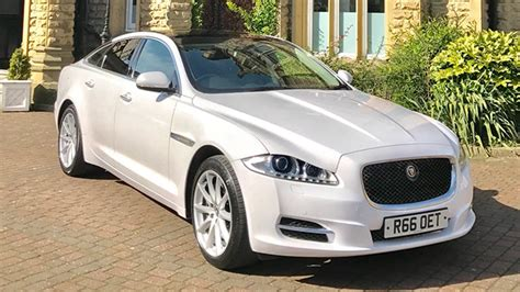 white jaguar xj wedding car hire bradford leeds west