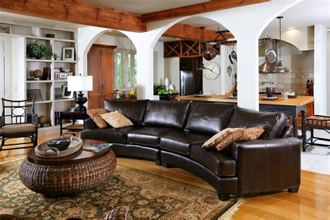 decorating ideas with sectional sofas lovely curved leather sectional sofa decorating ideas