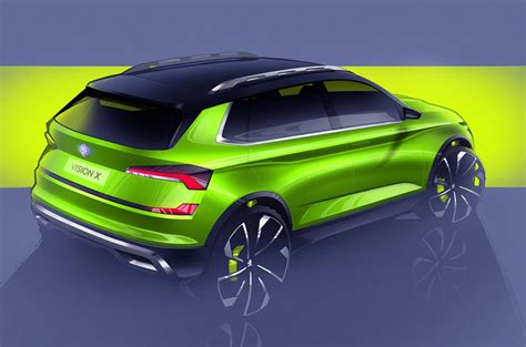 Skoda Vision X Small Suv Concept Previews 2019 Production