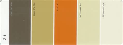 martha stewart paint 5 color palette card 31 thelandofcolor