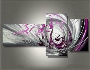 Tableau Plusieurs Panneaux : tableaux abstrait design triptyque eva ~ Teatrodelosmanantiales.com Idées de Décoration