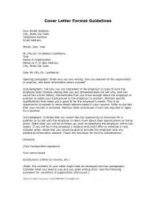 Standard Cover Letter Sle Cover Letter Format Creating An Executive Cover Letter Sles