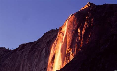 Yosemite Firefall Sets Iconic Waterfall Beautifully