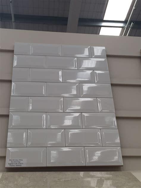 beveled subway tiles atbunnings kitchen   beveled