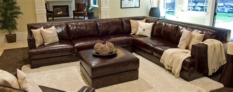 Large Leather Sectional Sofas Ritz U Shape Large Sectional
