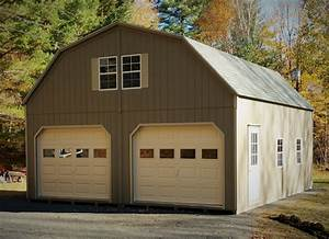 2 car garages thee amish structures dryden ny With 24x24 horse barn