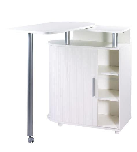 meuble table bar cuisine meuble de rangement blanc avec table pivotante intgre