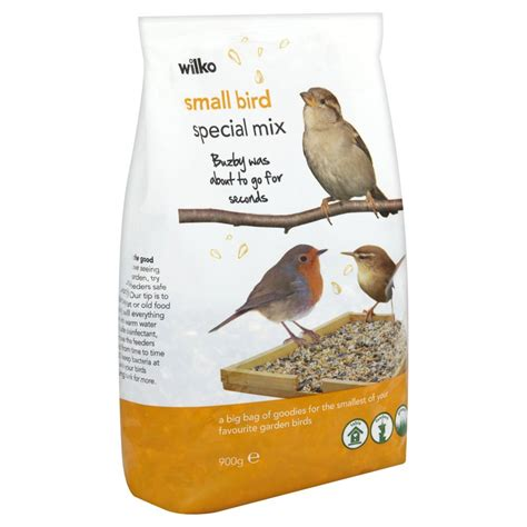 wilko wild bird special mix seed for small birds 900g at